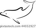 dolphin line art design 44032927