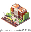 Vector isometric university building 44033119