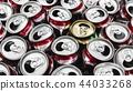 Close up picture of empty aluminium can 44033268