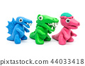play doh Dinosaurs on white background 44033418