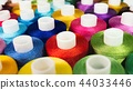 Macro picture group spool of colorful threads 44033446