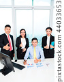 Group of businesspeople showing thumbsup sign 44033653