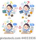 Cabin attendant blue women_mulch task office 44033936