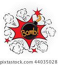 bomb, cartoon, illustration 44035028