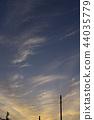 พระอาทิตย์ตก,เมฆ,สดใส 44035779