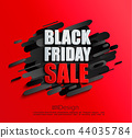 Sale banner for black friday on red background 44035784