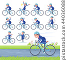 flat type Cabin attendant blue woman_road bike 44036088