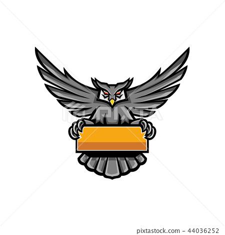 Owl Holding Banner Mascot Stock Illustration 44036252 Pixta