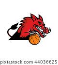 Wild Boar Basketball Mascot 44036625