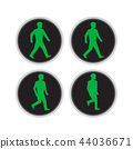 Traffic Light Man Walk Cycle Sequence 44036671