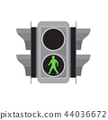 Traffic Light Man Walking Retro 44036672