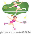 Tennis Woman Player 44036974