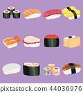 sushi, set, food 44036976