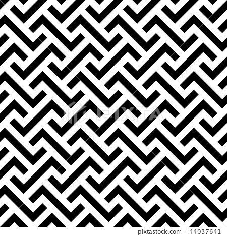 Abstract seamless pattern background. Maze of black geometric design elements isolated on white 44037641