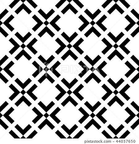 Abstract seamless pattern background. Maze of black geometric design elements isolated on white 44037650