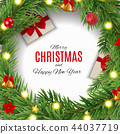 Merry Christmas and New Year Background. Vector Illustration 44037719