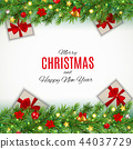 Merry Christmas and New Year Background. Vector Illustration 44037729