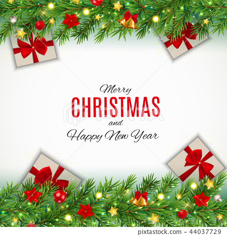 merry christmas and new year background vector stock illustration 44037729 pixta https www pixtastock com illustration 44037729