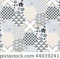 Blue Japanese pattern vector. Tile pattern  44039241