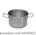 Stainless steel pot isolated. 44040952