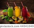 Healthy fresh smoothies with ingredients. 44041049