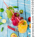 Healthy fresh smoothies with ingredients. 44041084