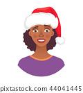 portrait of african woman in hat 44041445