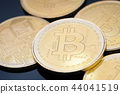 Golden bitcoin. Cryptocurrency 44041519