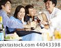 人們享受家庭聚會 44043398