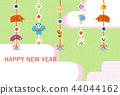 新年的卡片模板 44044162