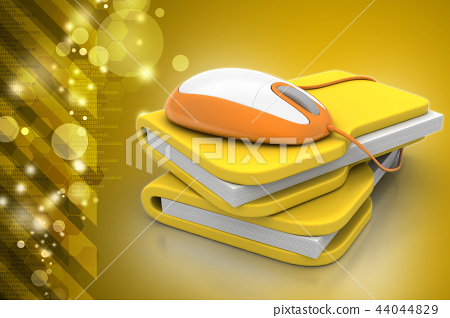 mouse with file folder 44044829