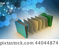 office folder with documents 44044874
