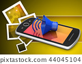 Megaphone with smart phone 44045104
