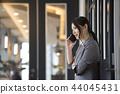 비즈니스 여성 스마트 폰 44045431