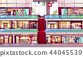 Mall shops escalator interior vector illustration 44045539