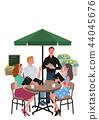 訂購在咖啡館女人圖A3大小 44045676