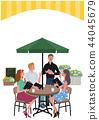 咖啡館訂單男人和女人的插圖 44045679