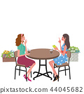 Cafe conversation woman illustration 44045682