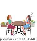 Cafe conversation trouble woman illustration 44045683
