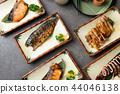 various japanese grilled teriyaki set 44046138