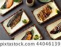 various japanese grilled teriyaki set 44046139