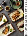 various japanese grilled teriyaki set 44046141