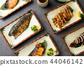 various japanese grilled teriyaki set 44046142