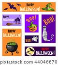 Halloween, witch, lantern 44046670