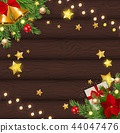 Merry Christmas and New Year Background. Vector Illustration 44047476