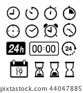 Time and Clock icons on white background Vector 44047885