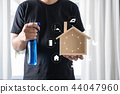 Professional cleaner shows shows the Cleaning 44047960