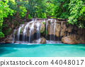 Deep rain forest jungle waterfall 44048017