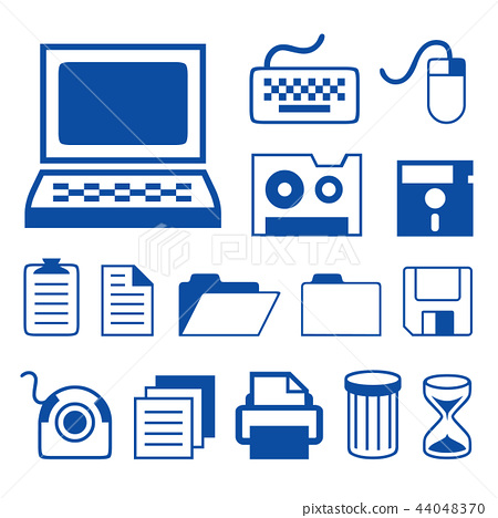 Computer Accessories Technology Icons Vector