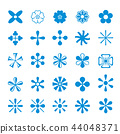 Cute set icon Flower isolated design Vector 44048371
